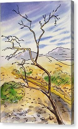 Death Valley- California Sketchbook Project Canvas Print by Irina Sztukowski
