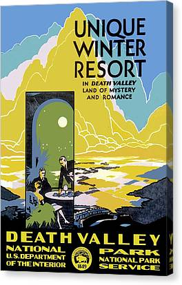Panamint Valley Canvas Print - Death Valley National Park Vintage Poster by Eric Glaser