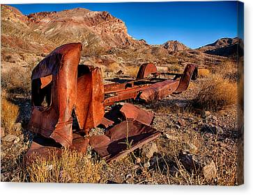 Old Trucks Canvas Print - Death Valley Truck by Peter Tellone