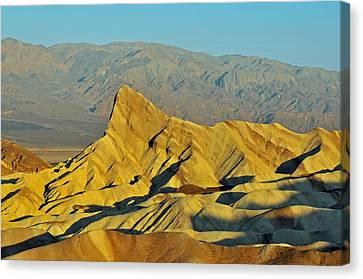 Death Valley Zabriskie Point Canvas Print by Paul Van Baardwijk