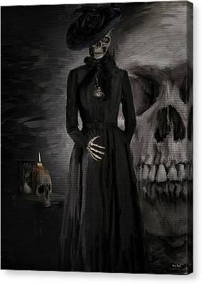Hourglass Canvas Print - Deathly Grace by Lourry Legarde