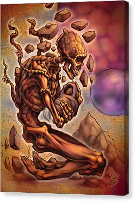 Death's Child Canvas Print by David Bollt