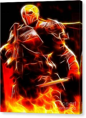 Dc Universe Canvas Print - Deathstroke The Terminator by Pamela Johnson