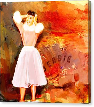 Debbie Reynolds Canvas Print by Dale Stillman