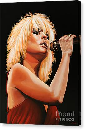 New Stage Canvas Print - Deborah Harry Or Blondie 2 by Paul Meijering