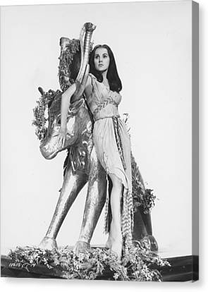 Ten Commandments Canvas Print - Debra Paget In The Ten Commandments by Silver Screen