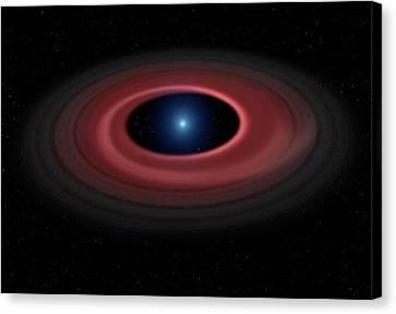 Debris Ring Around A White Dwarf Star Canvas Print by Mark Garlick