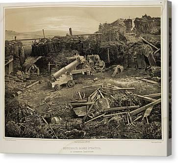 Debris-strewn Battlefield Canvas Print