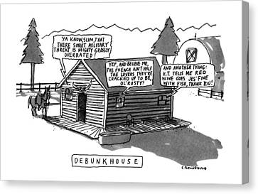 Debunkhouse Canvas Print by Michael Crawford