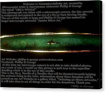 Nanomicroinfinity Jumbo Art Canvas Print - Debuting Arctic Polar Bear Sewing Needle No.5  by Phillip H George