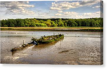 Decay Boats Canvas Print by Svetlana Sewell