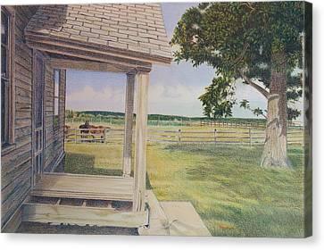 Decayed Farm House Canvas Print by Scott Kingery