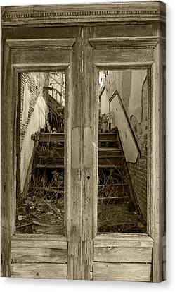 Decaying History In Black And White Canvas Print