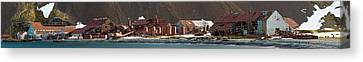 Decaying Whaling Station On The Beach Canvas Print by Panoramic Images