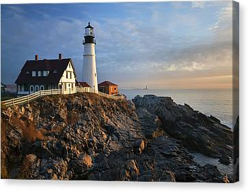 December At Portland Head Canvas Print by Eric Gendron