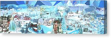 December Evening Landscape - Sold Canvas Print by Judith Espinoza