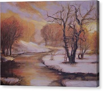 December Evening Canvas Print