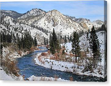 Canon 7d Canvas Print - December Nevada Landscape by Donna Kennedy