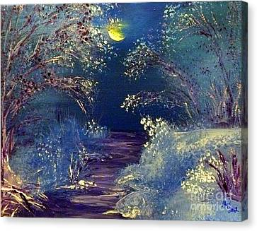 December Night Canvas Print by Alys Caviness-Gober