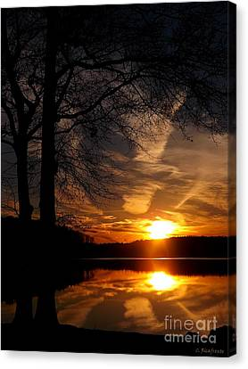 December Sunset Canvas Print