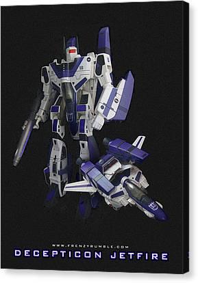 Prime Canvas Print - Decepticon Jetfire by Frenzyrumble