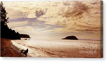 Deception Bay Washington Canvas Print by Artist and Photographer Laura Wrede