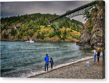 Deception Pass Canvas Print by Kelly Reber