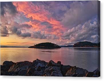 Deception Pass Sunset Canvas Print by Dan Mihai