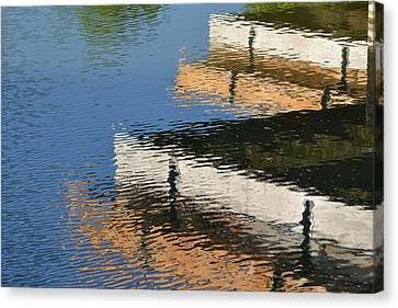 Deck Reflections Canvas Print by Bill Mock