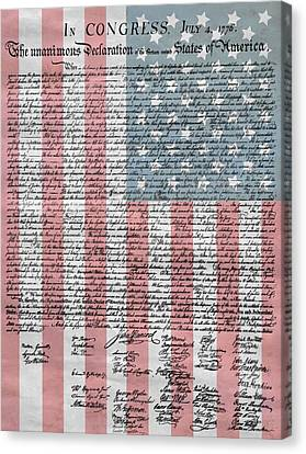 Declaration Of Independence Canvas Print by Dan Sproul