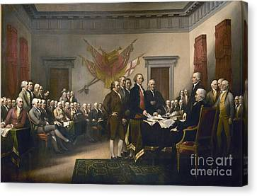 Declaration Of Independence Canvas Print by Pg Reproductions