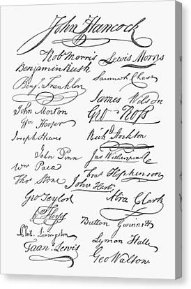 Declaration: Signatures Canvas Print