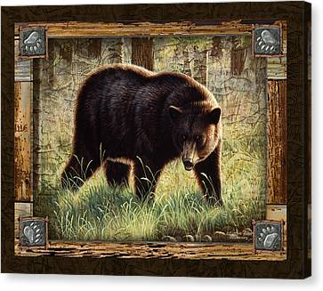 Deco Black Bear Canvas Print by JQ Licensing