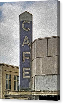 Deco Cafe - 01 Canvas Print by Gregory Dyer