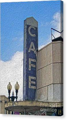Deco Cafe - 02 Canvas Print by Gregory Dyer