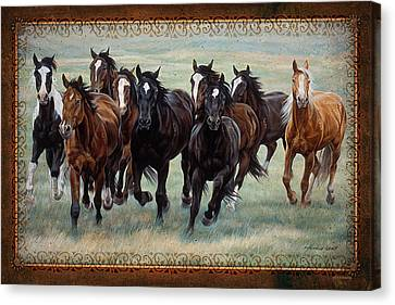 Rodeo Canvas Print - Deco Horses by JQ Licensing
