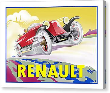 Deco Renault Canvas Print by Lyle Brown