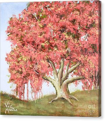 Deco Tree Canvas Print by Vic  Mastis