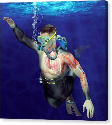 Decompression Sickness Canvas Print by Claus Lunau
