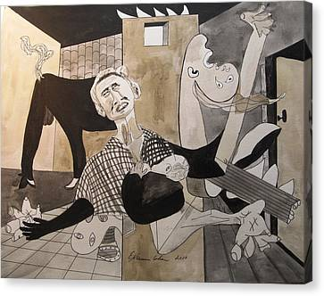 Deconstructing Picasso - La Agonia Espanola Canvas Print by Esther Newman-Cohen