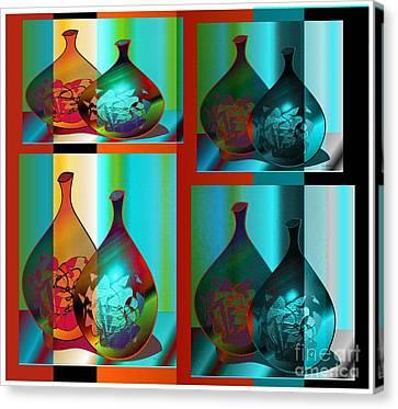 Canvas Print featuring the digital art Decor 2 by Iris Gelbart