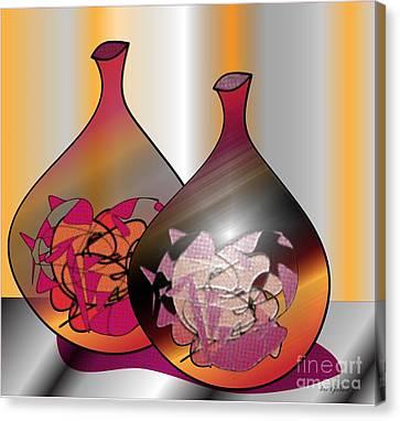 Canvas Print featuring the digital art Decor by Iris Gelbart