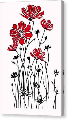Decoracion De Flores Canvas Print by Galeria Zullian  Trompiz