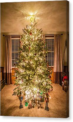 Canvas Print featuring the photograph Decorated Christmas Tree by Alex Grichenko