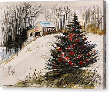 Decorated In The Snow Canvas Print by John Williams