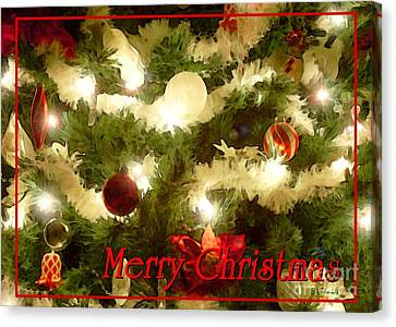 Decorated Tree Christmas Card Canvas Print by E B Schmidt