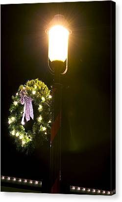 Decorating For Christmas Canvas Print by Kenneth Albin