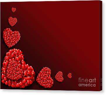 Decoration Of Heart Shaped Hearts Canvas Print by Kiril Stanchev