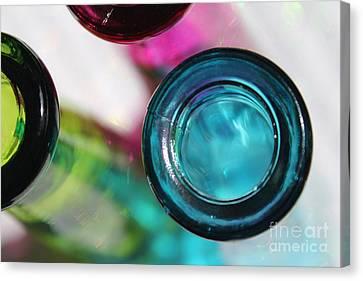 Decorative Bottles II Canvas Print by Krissy Katsimbras