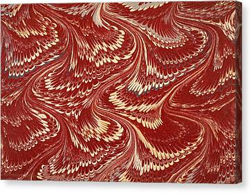 Decorative Endpaper From A Nineteenth Canvas Print by Ken Welsh